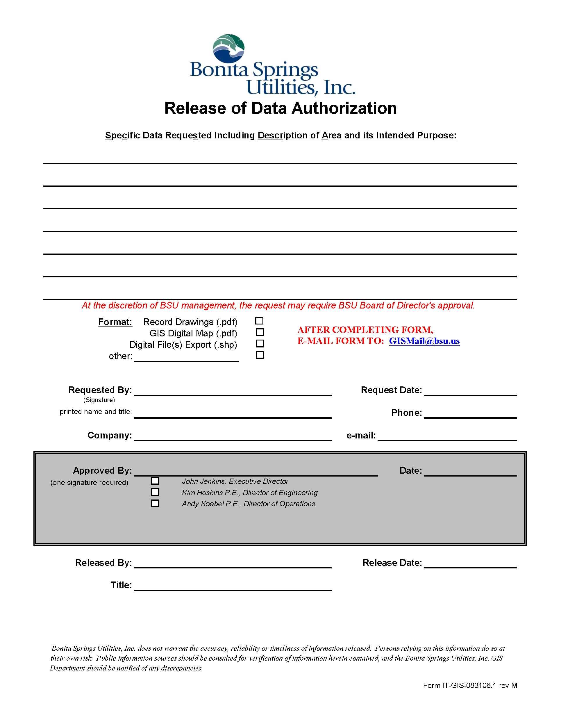 gis utility conveyance documents